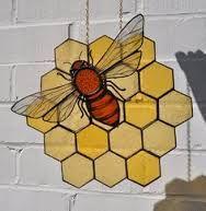 Honeycomb leaded glass