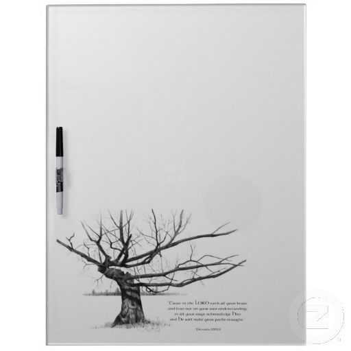 Gnarly Old Tree: Bible Verse: Proverbs: Pencil Dry-Erase Whiteboard: Available at www.zazzle.com/joyart