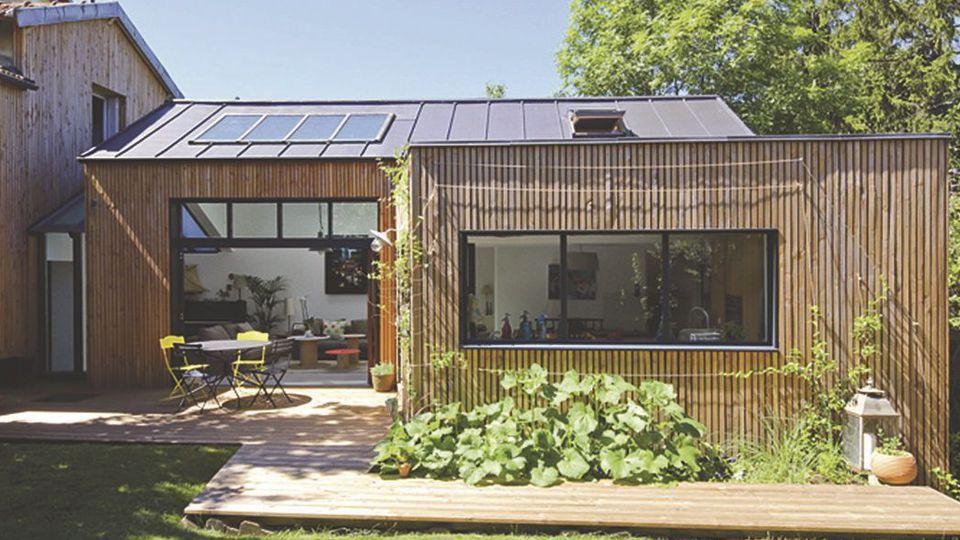 Extension Chambre cuisine, salon ou chambre, l'extension à ossature bois se prête à