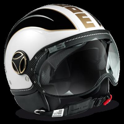 Momo Design Avio White Black Gold Шлем