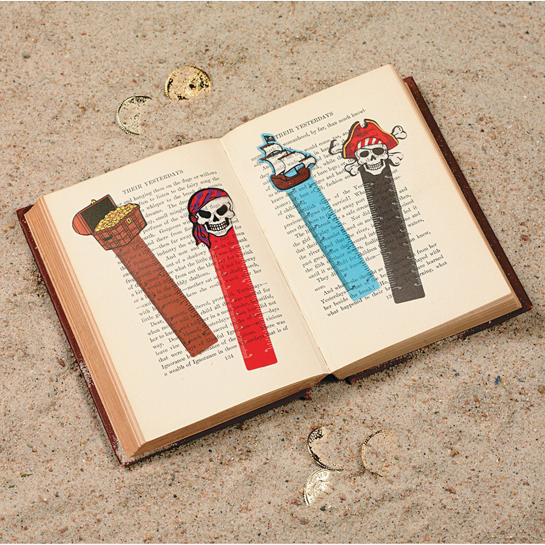 Pirate Ruler Bookmarks - OrientalTrading.com