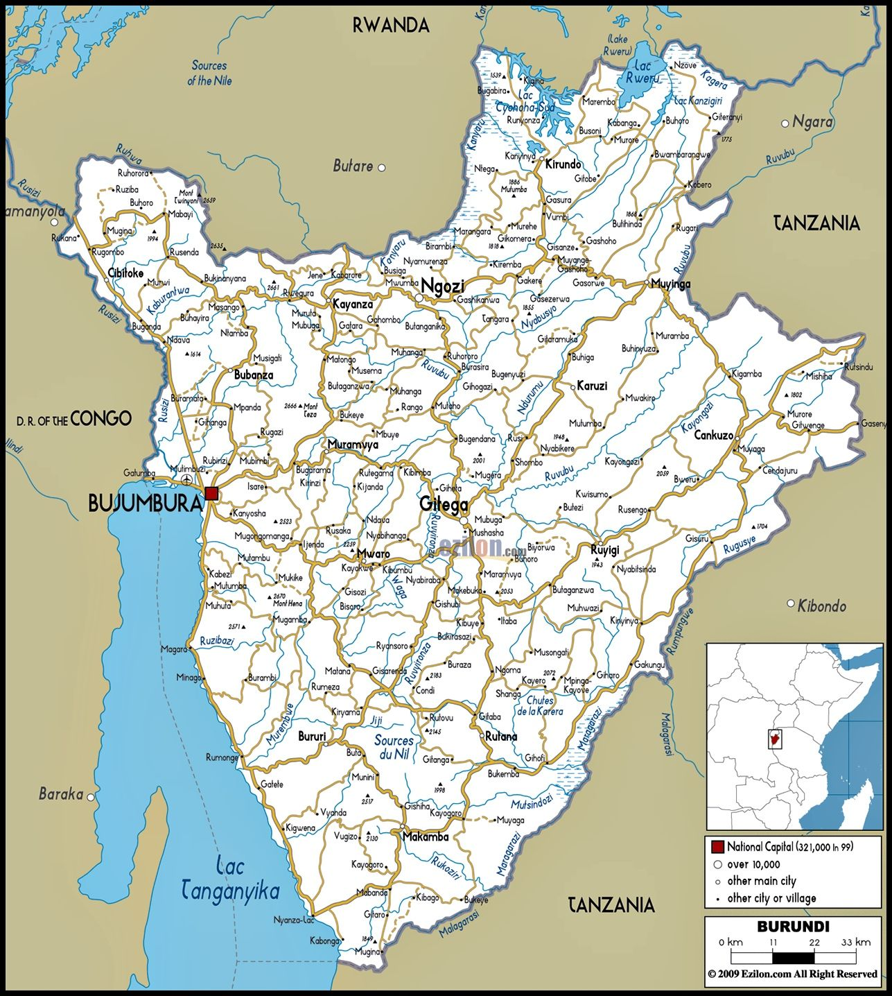 Map of Burundi CENTRAL AFRICA BURUNDI Pinterest Africa