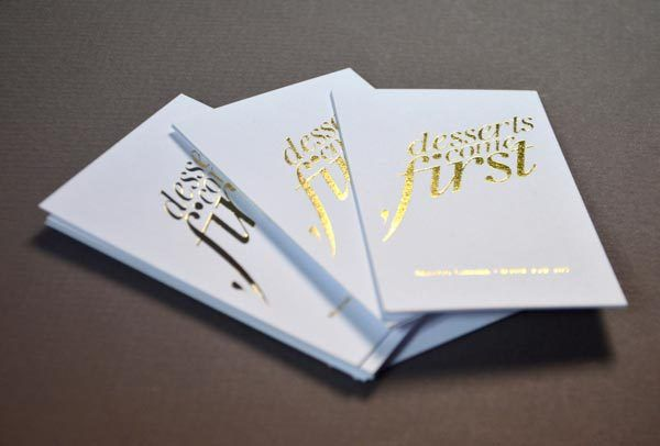 Gold Foil Branding Pinterest Foil Business Cards Business