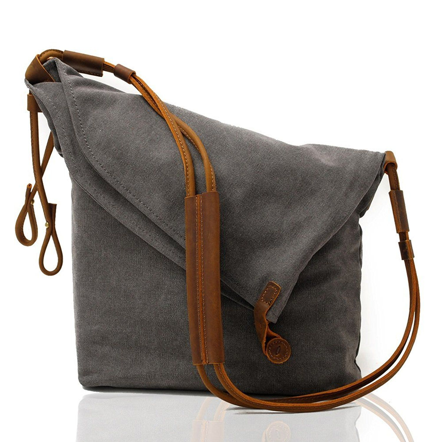 Kemy s Oversized Canvas Crossbody Satchel Bags for Women Hobo Handbags  Cross Body Tote Unisex Vintage Men Leather Messenger Bag Over the Shoulder  Purse ... cae4f2a4d