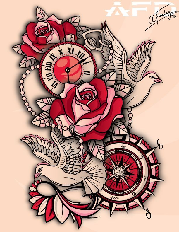 Half Sleeve Tattoo Design On Paper