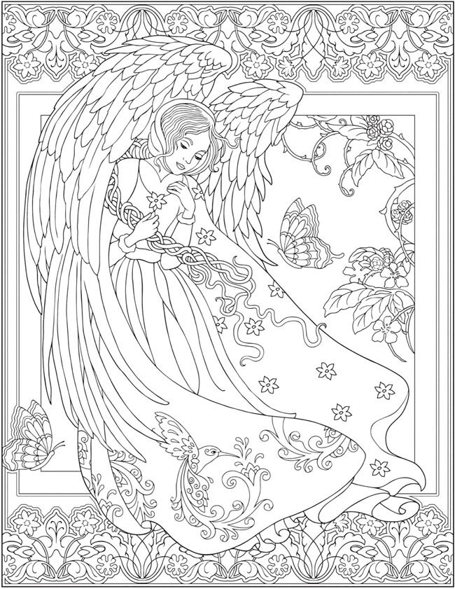 Welcome To Dover Publications Angel Coloring Pages Fairy Coloring Pages Coloring Pages