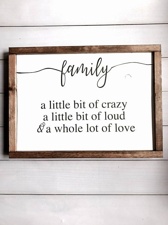 This Sign Is Approximately 13 High X 17 5 Wide Painted White Background With Black Lettering Framed With A D Family Wood Signs Handmade Home Decor Home Decor