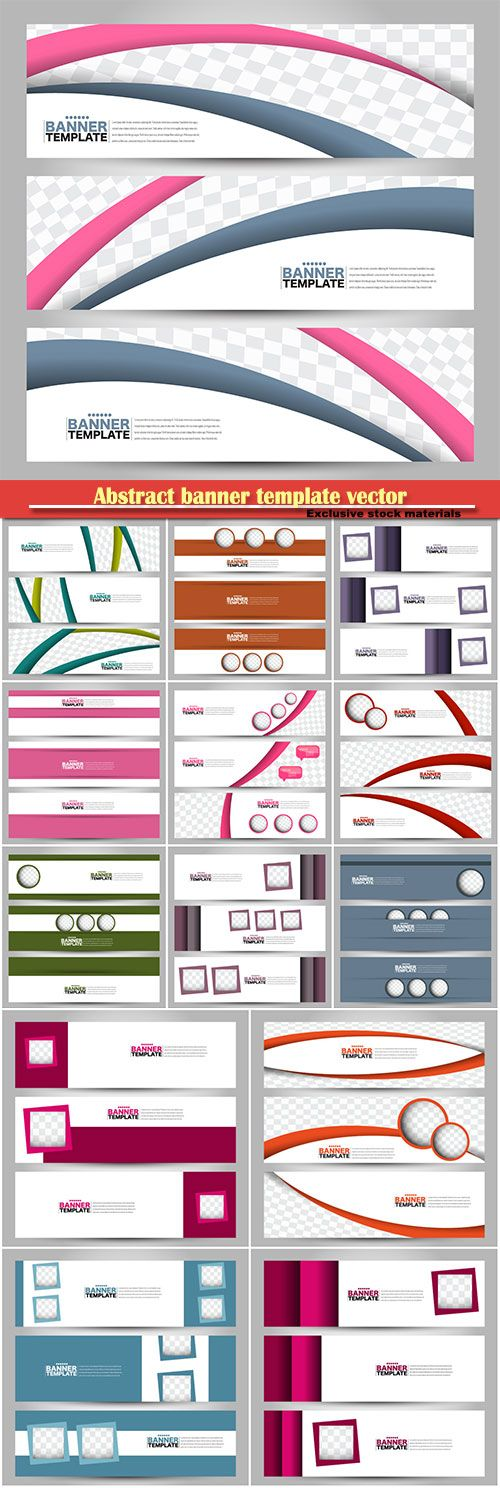 Abstract banner template vector background for design