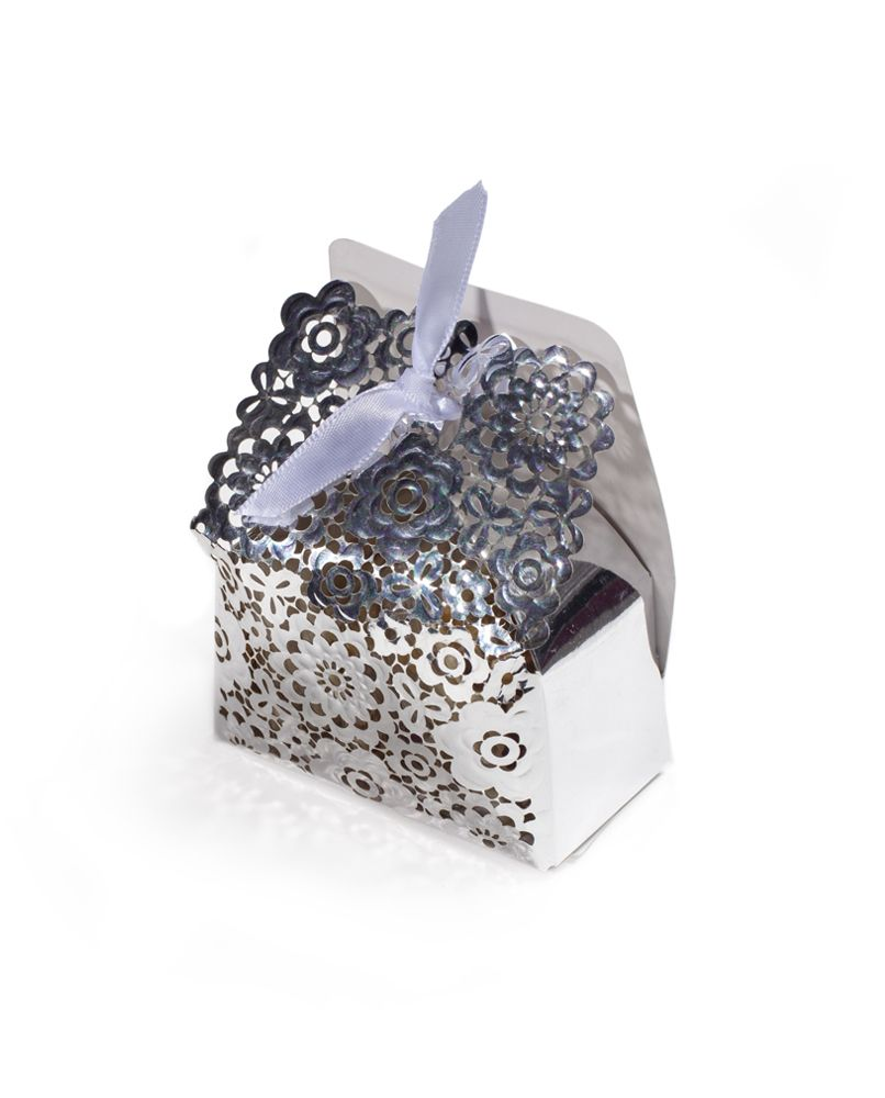 Silver Floral Box | Wedding Favor Boxes | Pinterest | Wedding favor ...