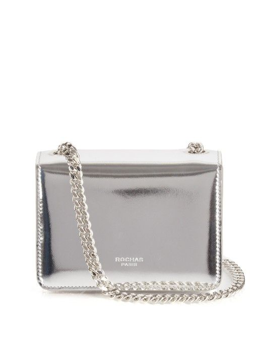 952d977a25c1f This metallic-silver leather Rochas bag will add a contemporary feel to any  look