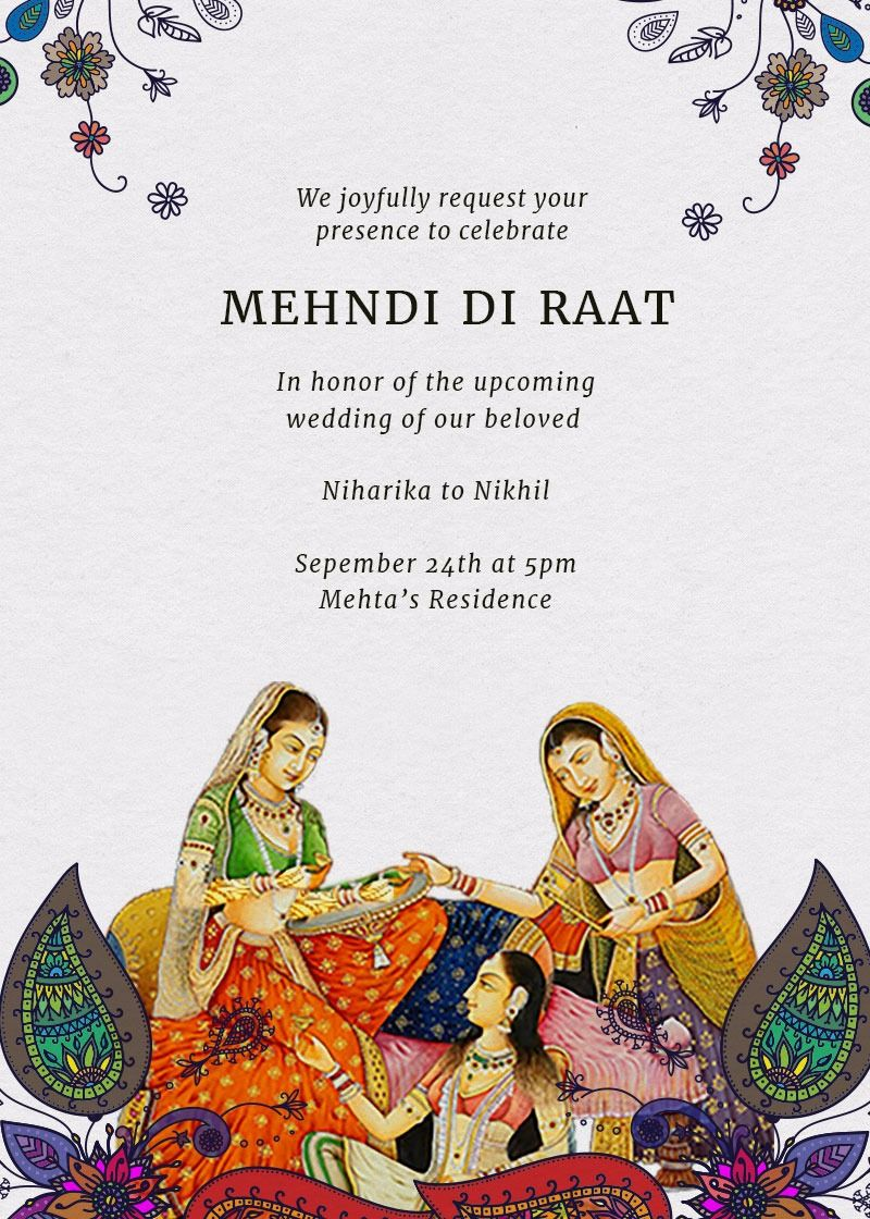 Inytes Online Invitations For Indian Parties And Events Indian Wedding Invitation Card Design Indian Wedding Invitation Cards Wedding Invitation Card Design