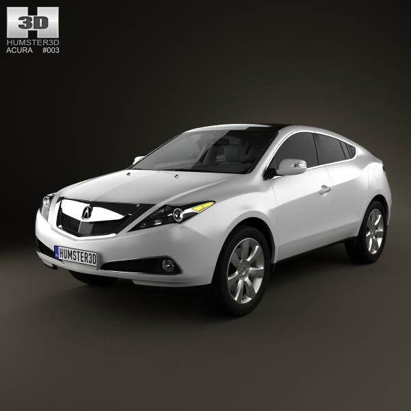3D Model Of Acura ZDX 2012