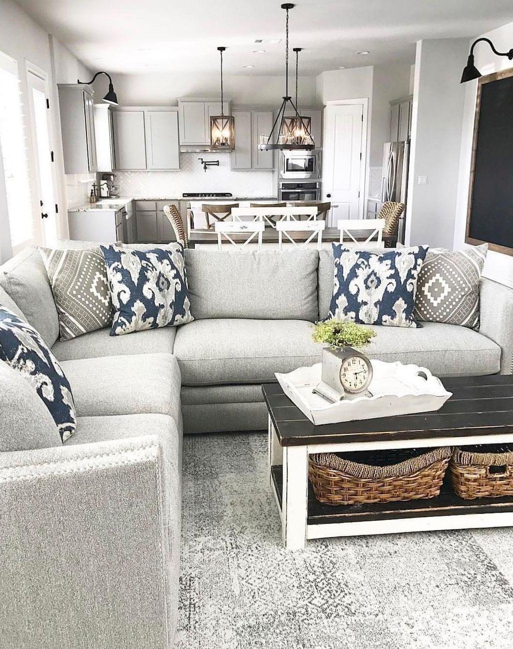 35 Rustic Farmhouse Living Room Furniture Decor Ideas | Farmhouse ...
