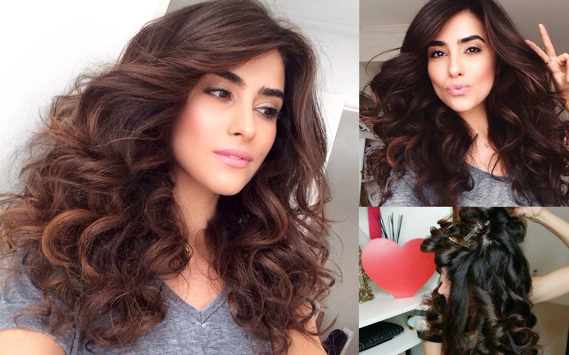 how to create big bouncy curls (easy) | big curls in 2019