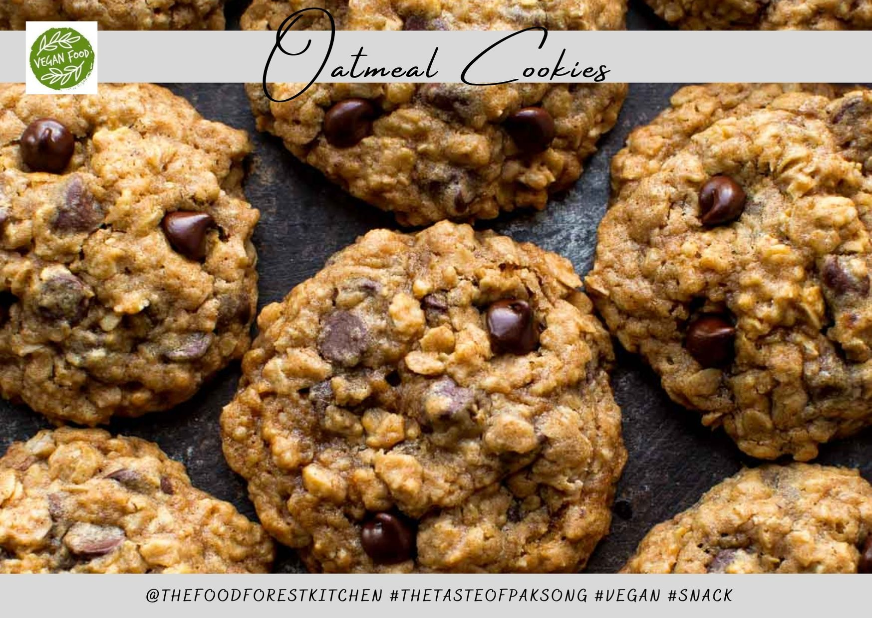 The Best Vegan Oatmeal Cookies Ever In 2020 Oatmeal Cookies Chewy Cookie Recipes Chewy Chocolate Chip