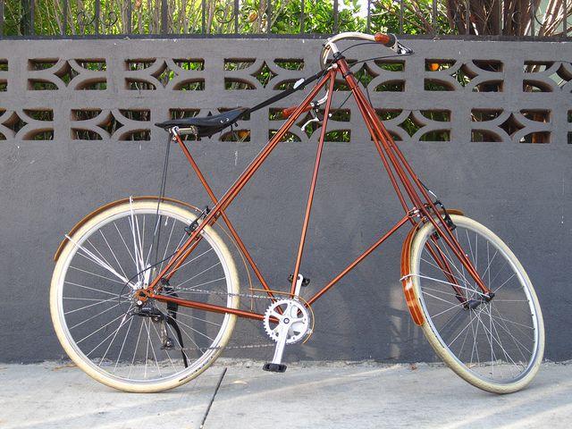Xl Pedersen Bicycle In Bronze With Inlaid Wood Fenders At Flying Pigeon La Bike Shop Pedersen Bicycle Montain Bike Bicycle