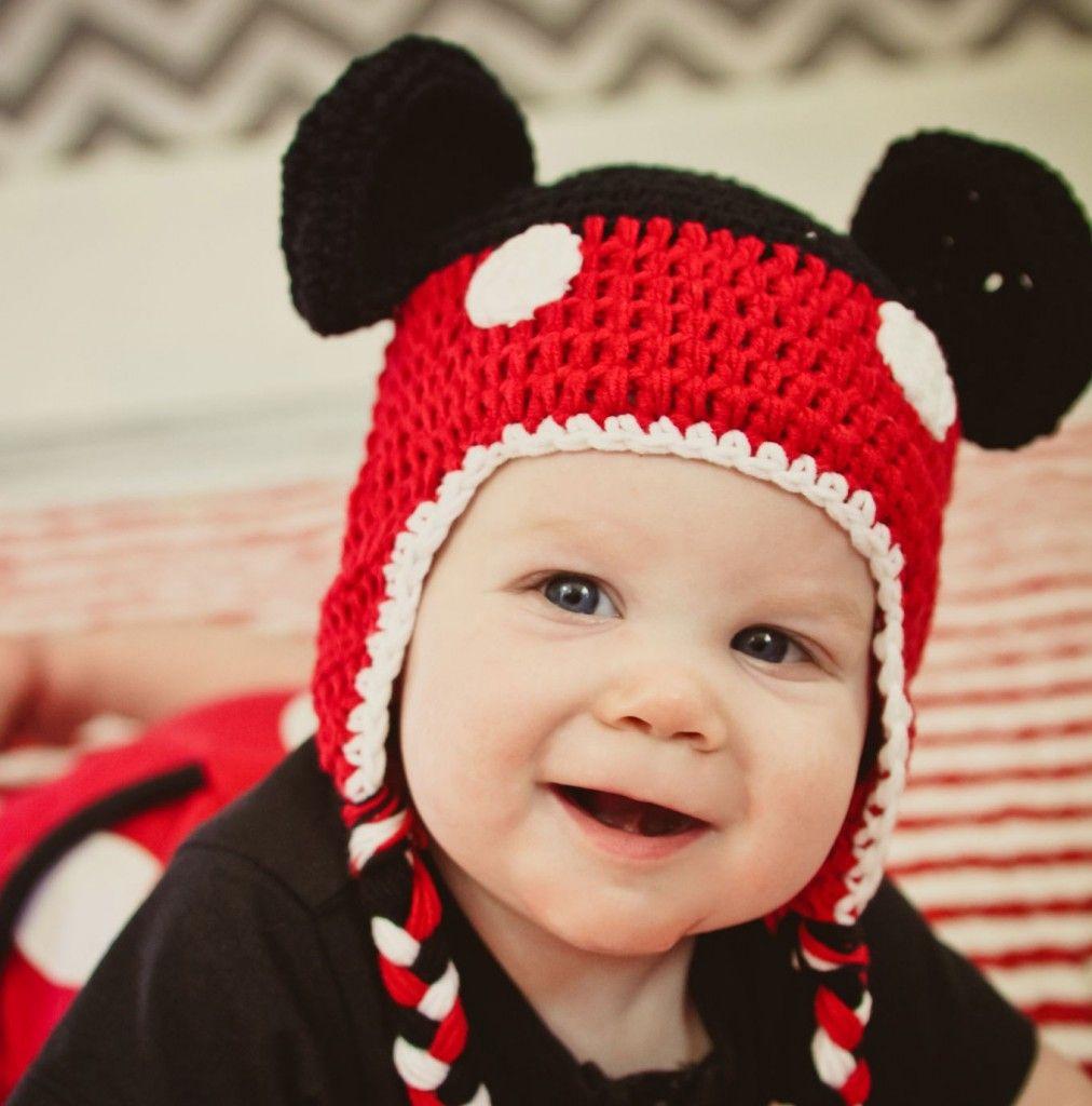 7c78b7978fa470 5 Mickey Mouse Knit Hat Patterns - The Funky Stitch