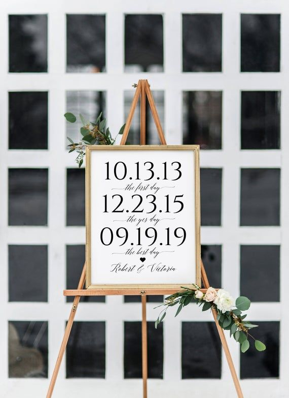 First Day, Yes Day, Best Day Custom Print. Our Love Story. Engagement Party Decorations. Wedding Decorations. Wedding Sign diy word #dressesforengagementparty