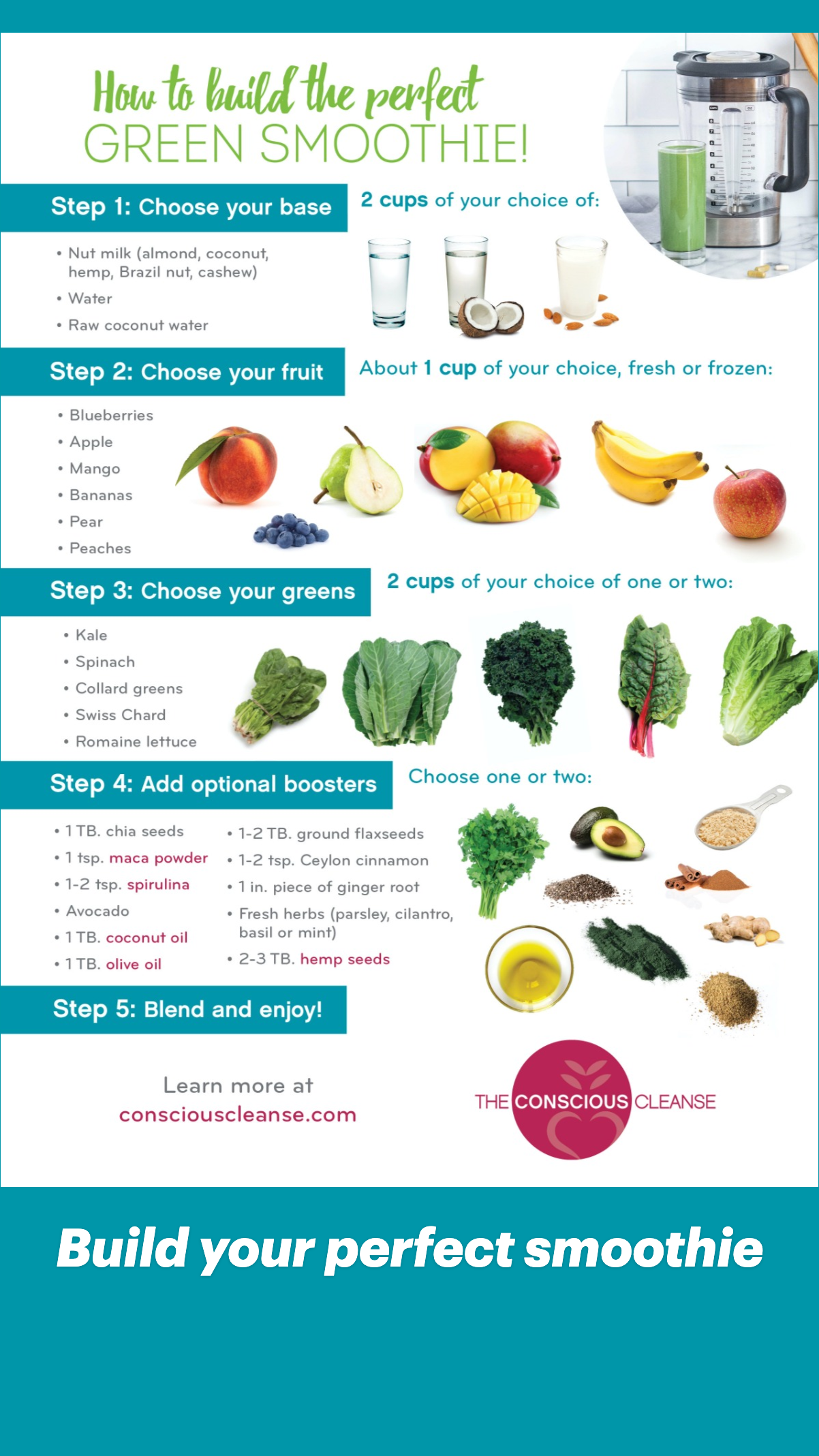 Build your perfect smoothie - Conscious Cleanse