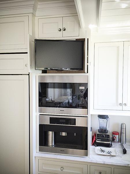 Kitchen Tv Hidden Tv In Kitchen Small Kitchen Tv Hidden Kitchen