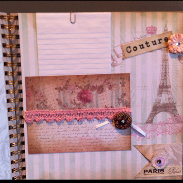 Couture journal page