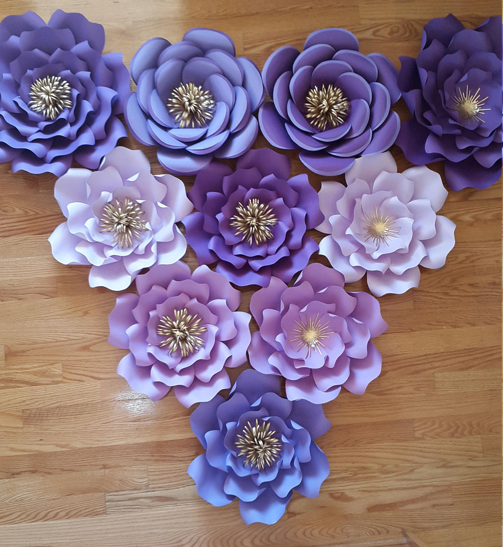 purple themed bridal shower%0A Paper flower backdrop for birthday  Paper flower wall    Paper flower  decor  Wedding