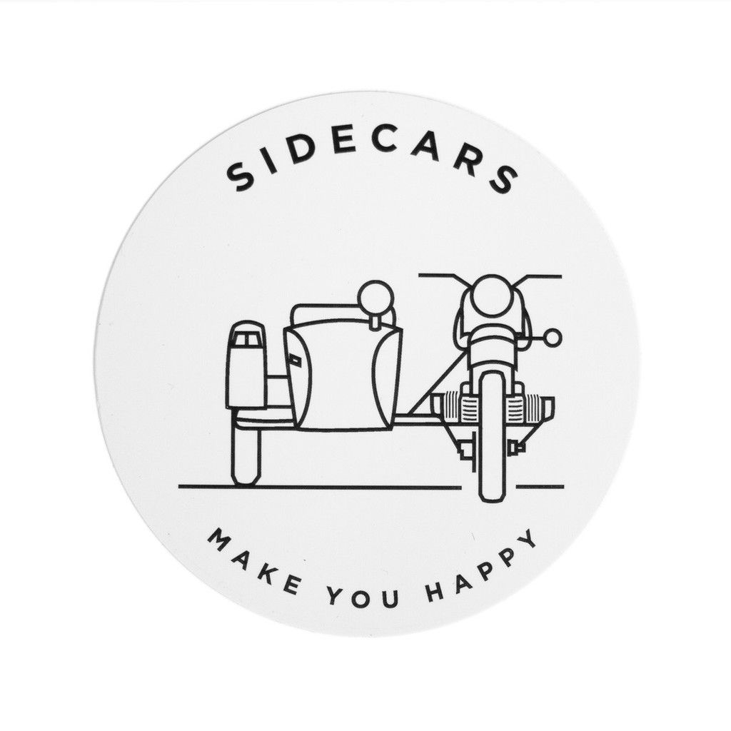 Sidecars Make You Happy Sticker – Ural Motorcycles | Wheel Dreams ...