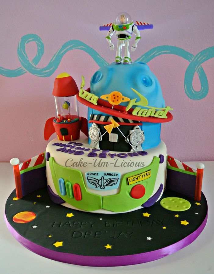 Stupendous Buzz Lightyear Pizza Planet Cake With Images Planet Cake Toy Funny Birthday Cards Online Alyptdamsfinfo