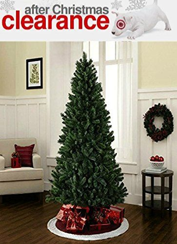 6 Foot Artificial Christmas Tree Evergreen Lightweight With Hinged Branches Unlit Free Extended Christmas Tree Christmas Decorations Artificial Christmas Tree