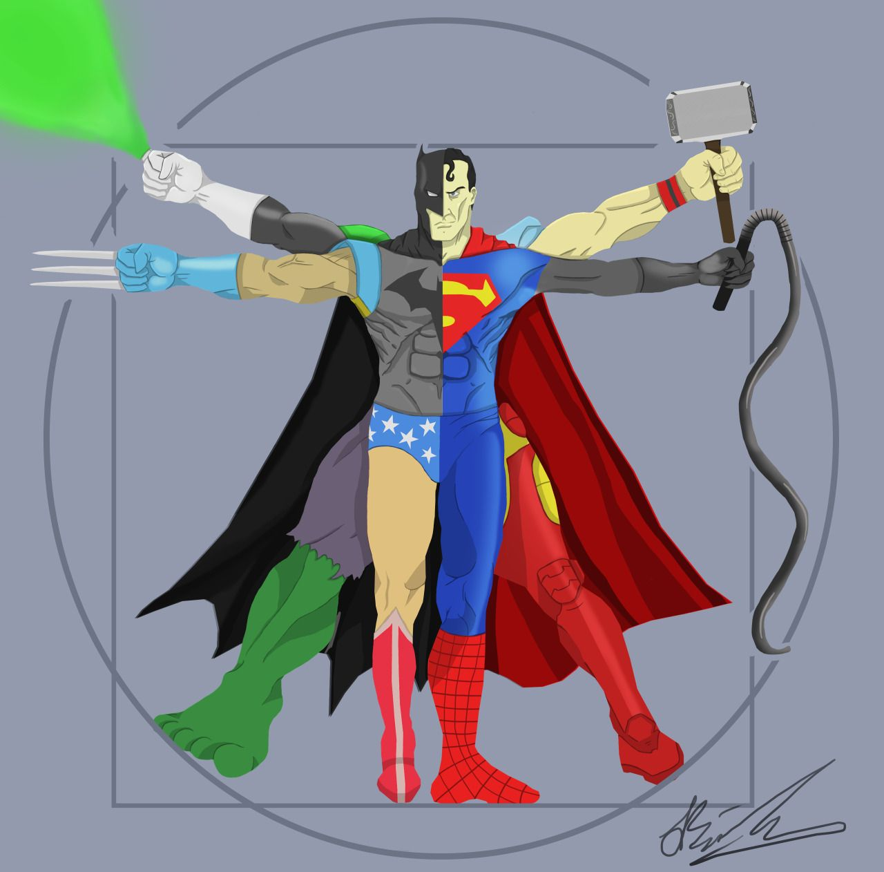 Superheroes inspired by Da Vinci