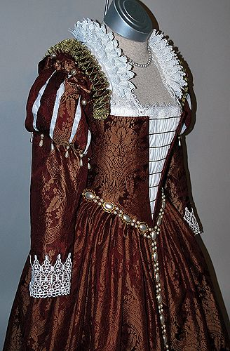Burgundy Venetian Renaissance Gown