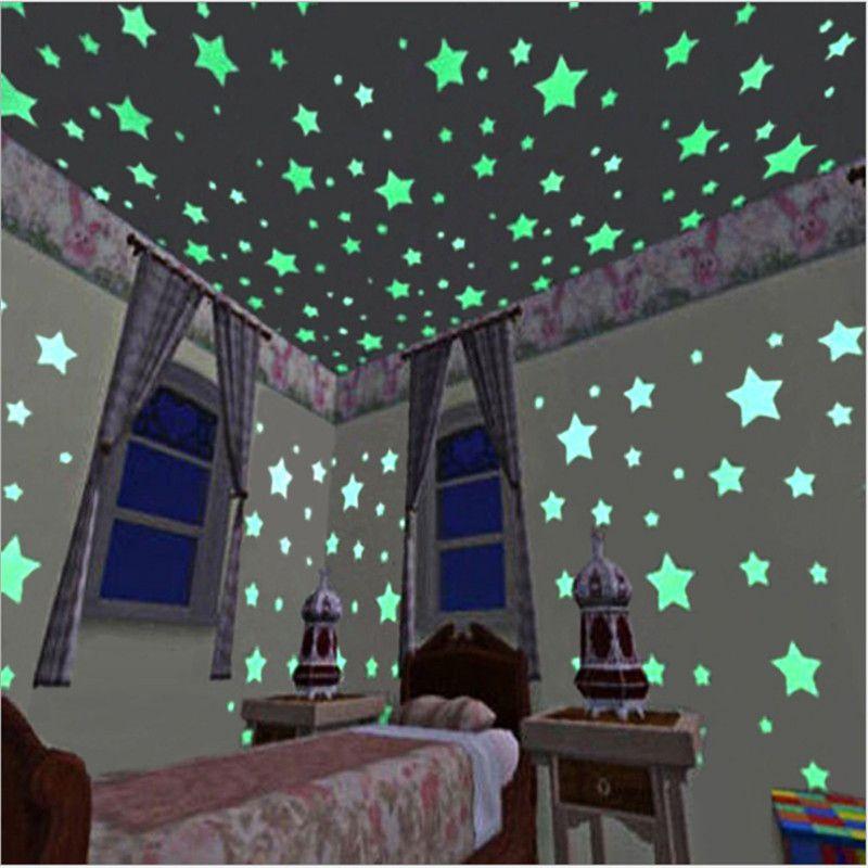 50 Pcs Fluorescent Lumineux Enfants Chambre De Stockage Chambres