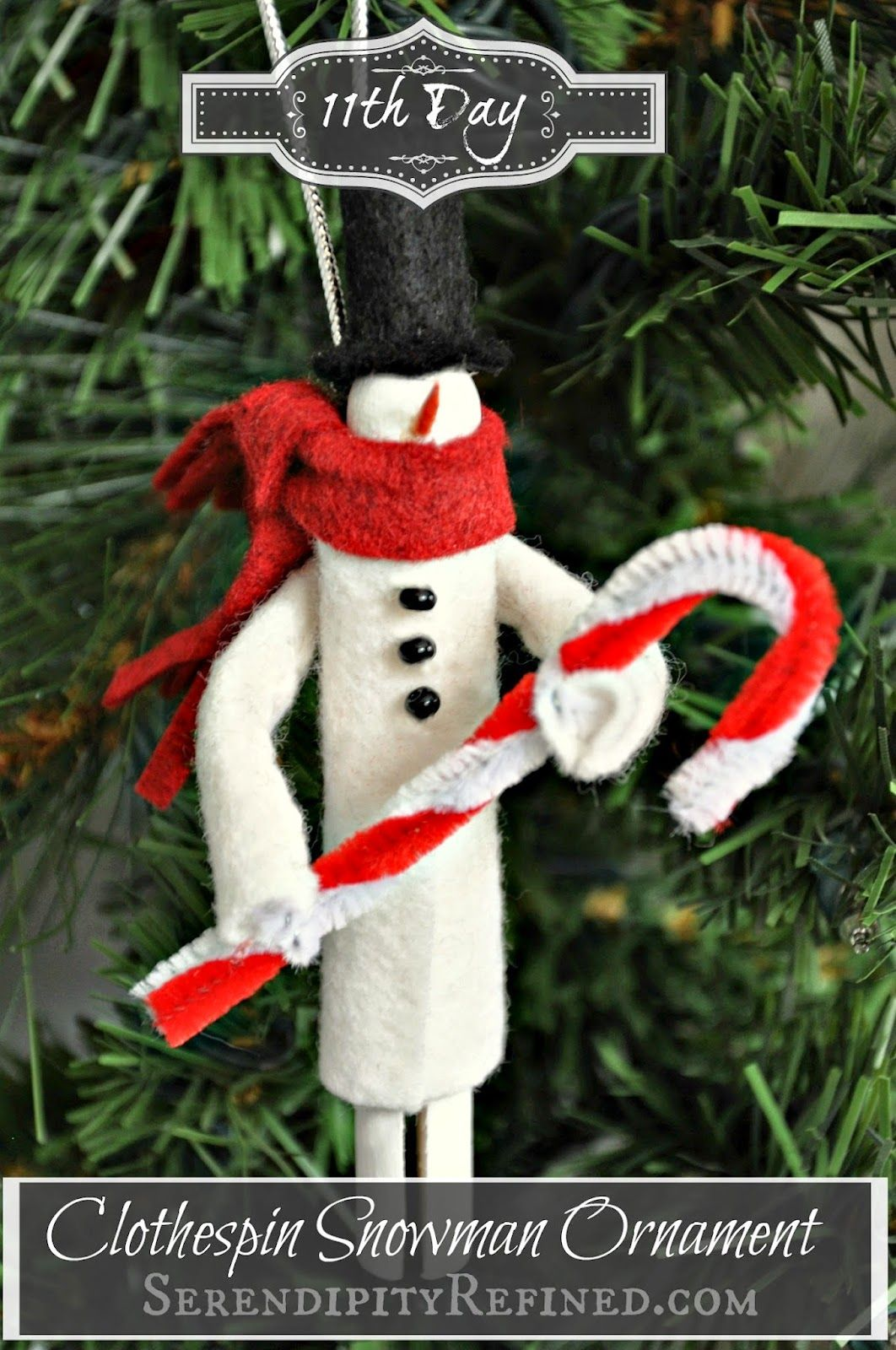 christmas clothespin ornaments Happy Day 11