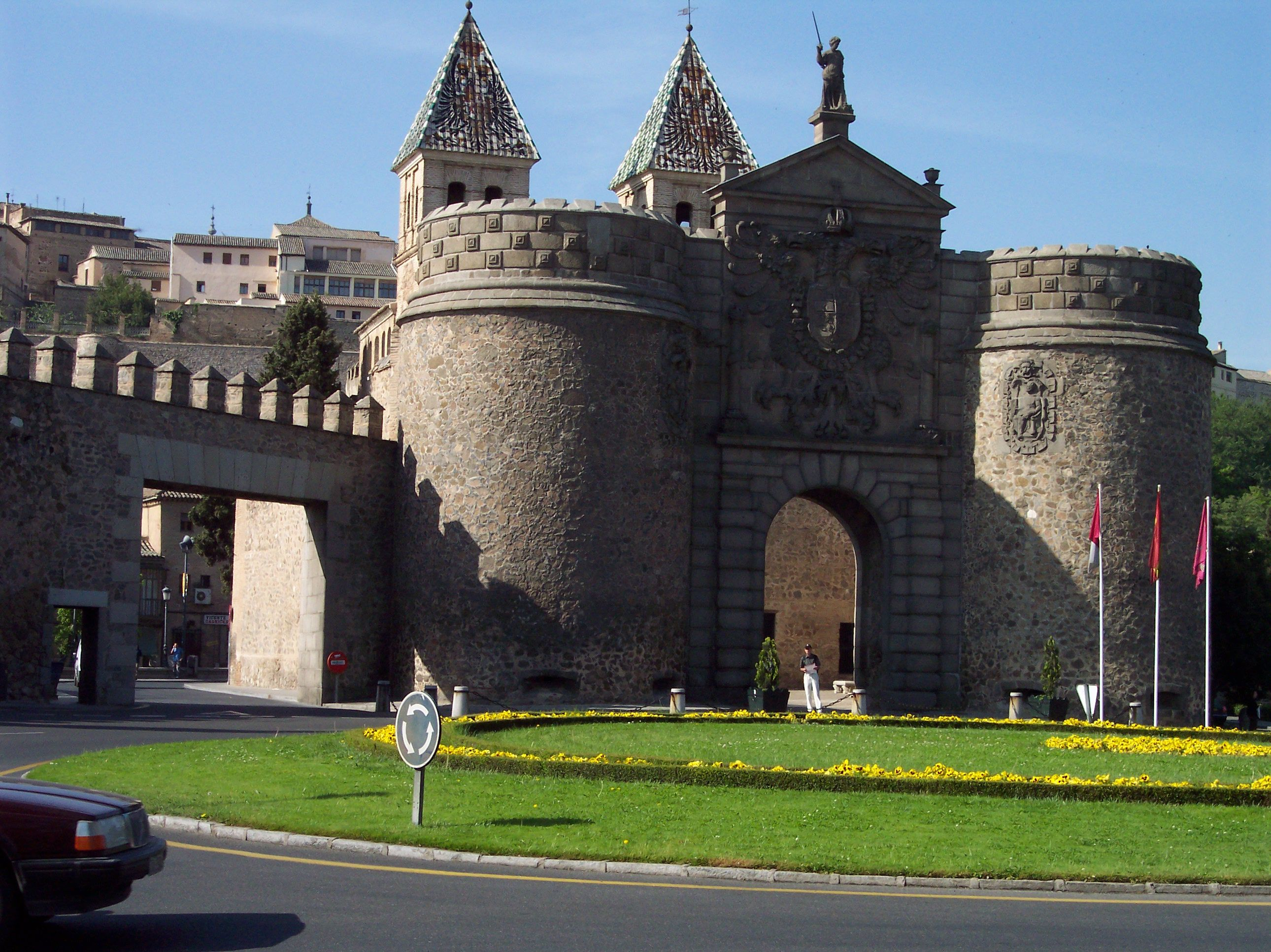 this is the main gate to the walled city of toledo spain on walled id=69442