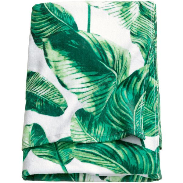 H&M Beach towel ($12) ❤ liked on Polyvore featuring home, bed & bath, bath, beach towels, fillers, swimwear, towels, beach and h&m