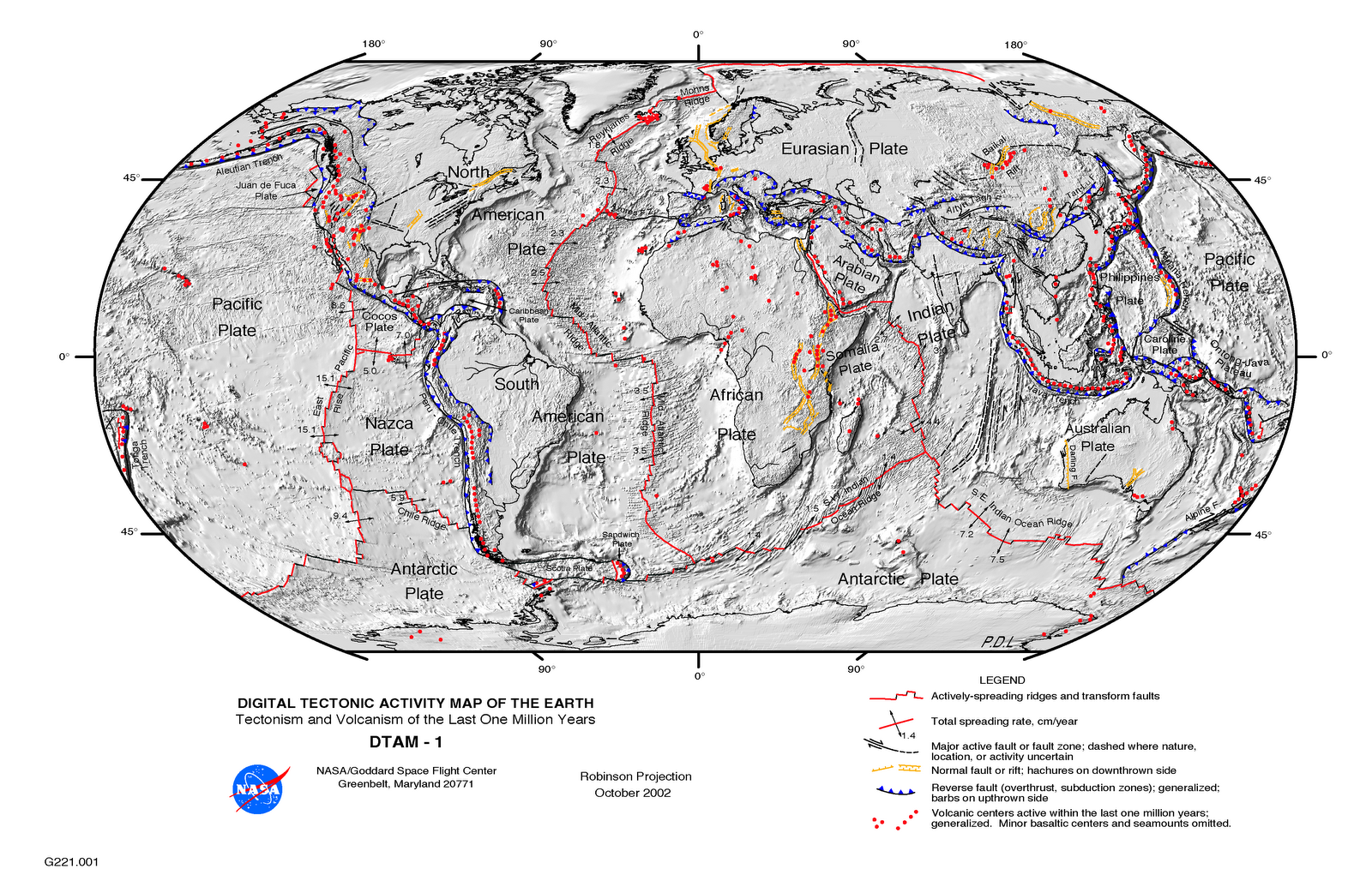 Digital Tectonic Activity Map Of The Earth