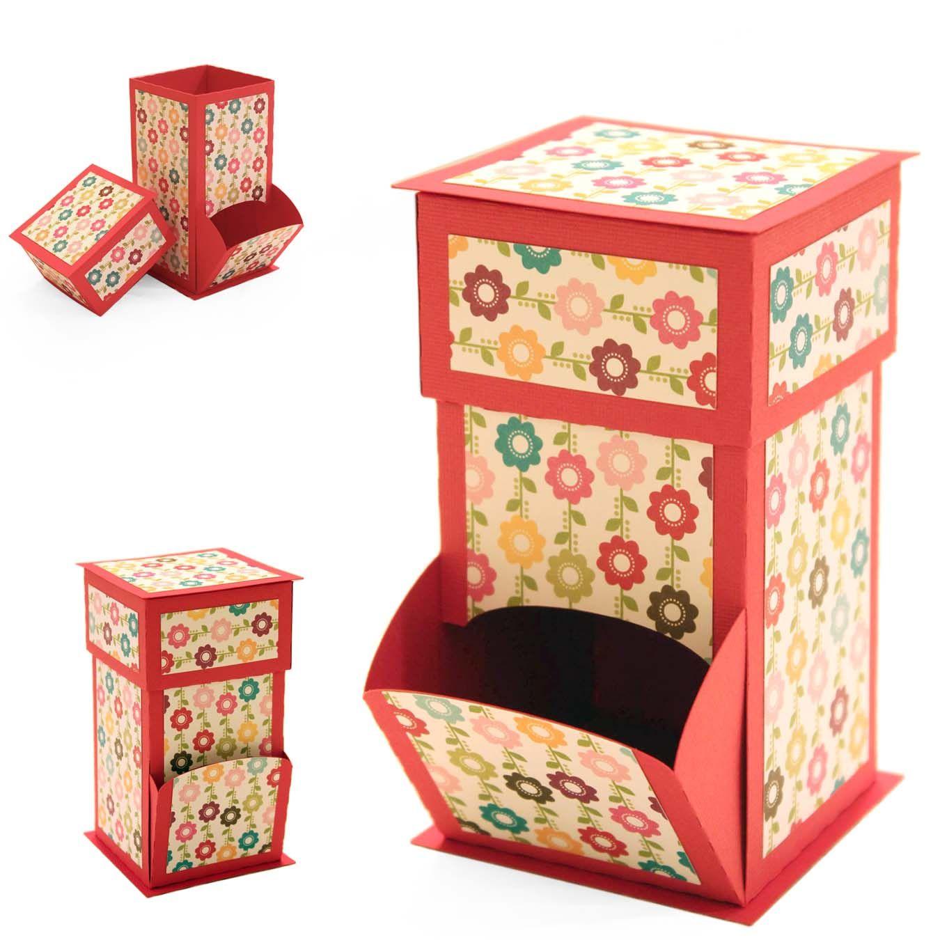 anleitung bonbon spender cajas canastas pinterest verpackung schachteln und box. Black Bedroom Furniture Sets. Home Design Ideas