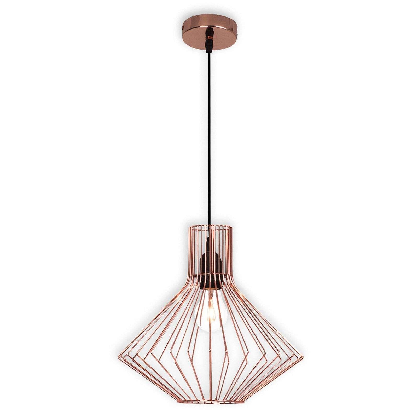 Suspension Cage Dalma En Cuivre De Brilliant Petites Lampes De