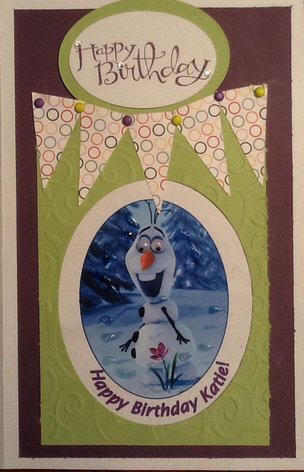 Birthday Card For 6 Year Old Girl Who Loves Olaf From Movie Frozen