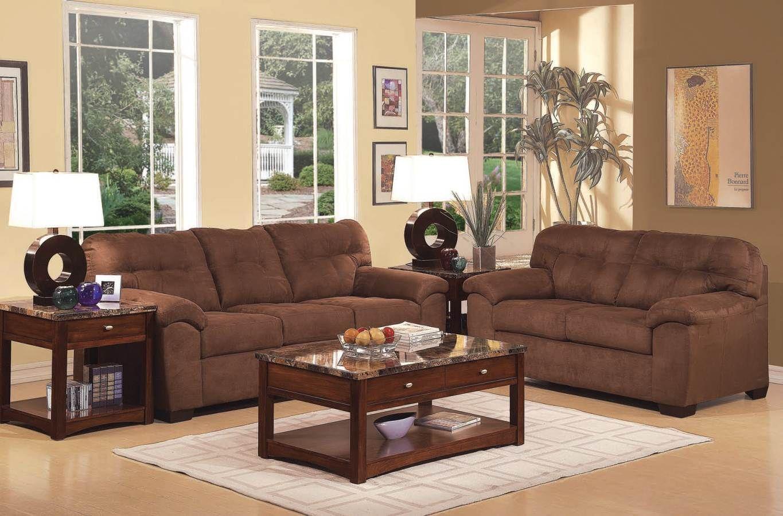 Aislin Contemporary Espresso Living Room Set 50380 Set Living
