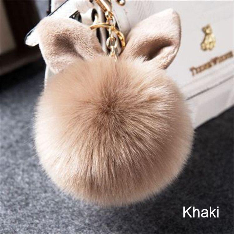 2.81 - Nice 2017 Fur Pom Pom Keychains Fake Rabbit fur ball key chain  porte clef pompom de fourrure fluffy Bag Charms bunny keychain Keyring -  Buy it Now! b6340123756f