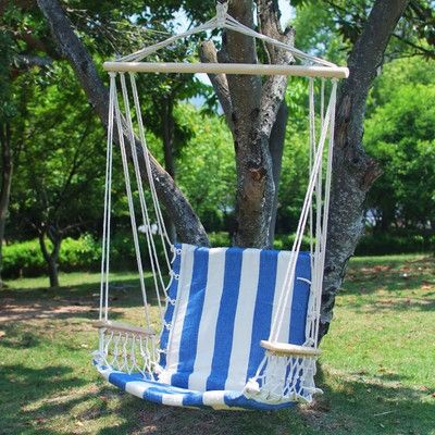 found it at wayfair   naval cotton fabric canvas tree hanging suspended outdoor indoor hammock chair found it at wayfair   naval cotton fabric canvas tree hanging      rh   pinterest