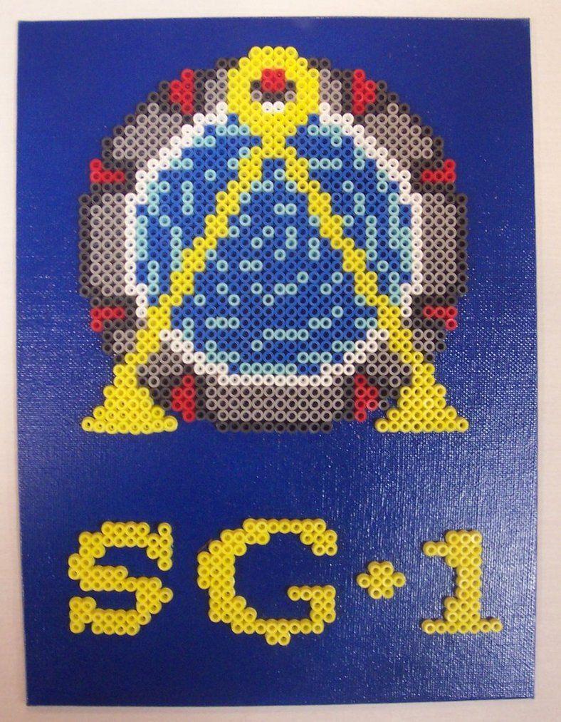 Stargate SG-1 perler beads | Perler Madness | Pinterest