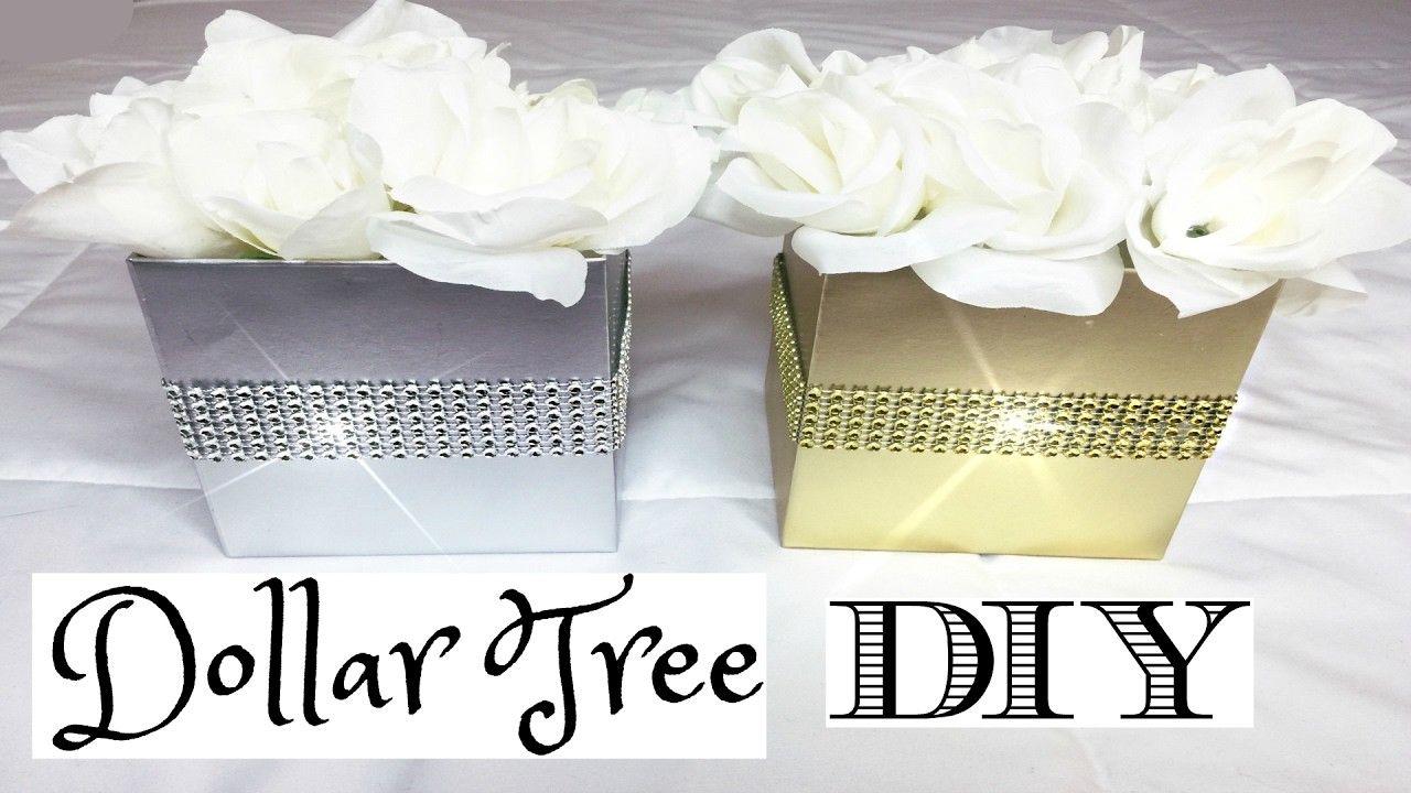 Dollar Tree Glam Flower Boxes DIY