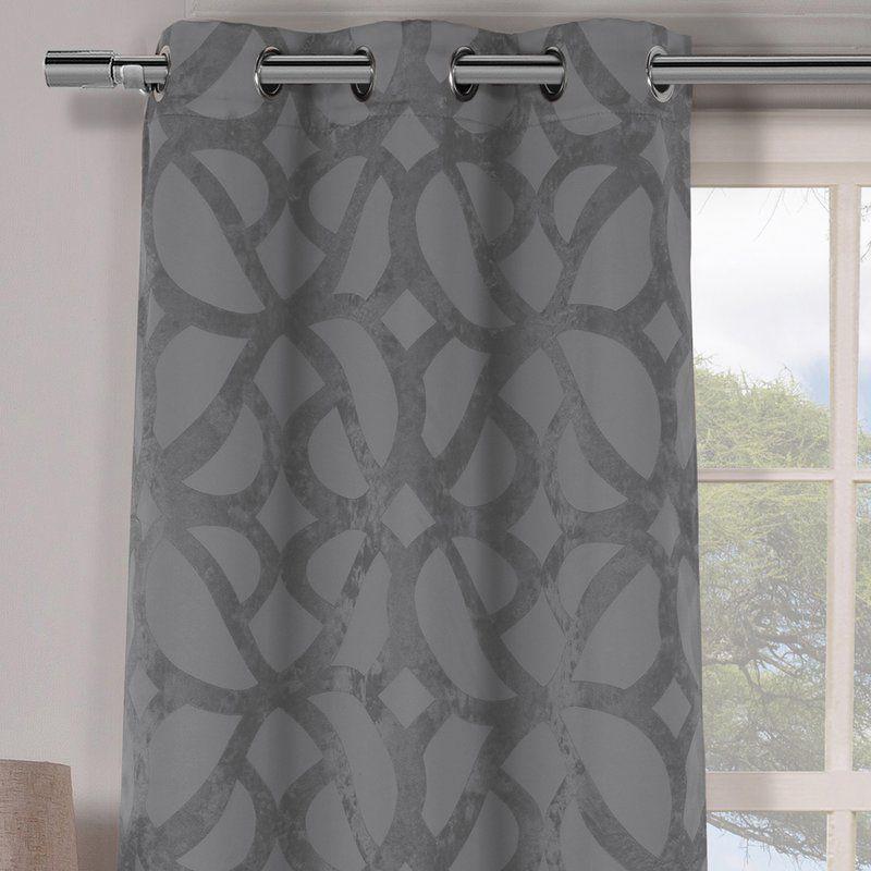 Geometric Blackout Grommet Curtain Panels In 2019