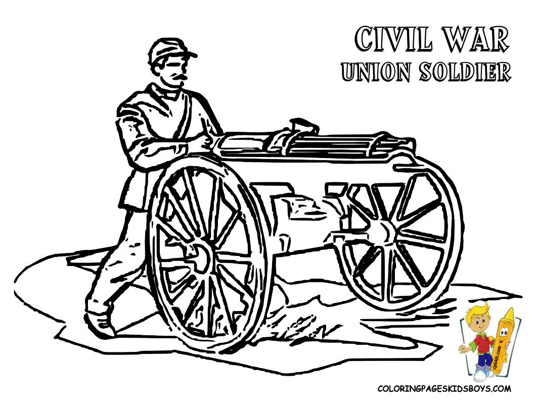 Civil War Coloring Pages New Free War Coloring Page