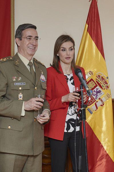 Queen Letizia of Spain Photos: Queen Letizia of Spain Visitis Artillery Military Academy in Segovia