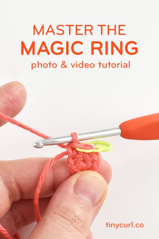 Magic Ring Crochet Tutorial Photo Video Tutorial Tiny Curl Crochet Magic Ring Crochet Crochet Tutorial Magic Ring