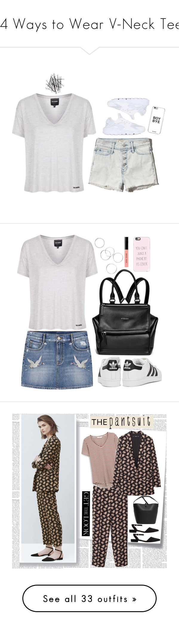 """""""24 Ways to Wear V-Neck Tees"""" by polyvore-editorial liked ..."""