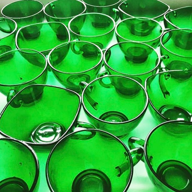 My punch cup collection is feeling the St Pats spirit